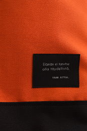 Riiminka Small Story backbag text
