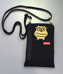 Small Sini -mobile phone bag 10×16 cm, gold print