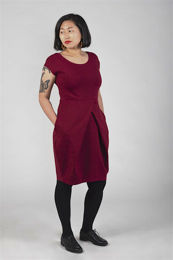 Riiminka Puro dress, burgundy