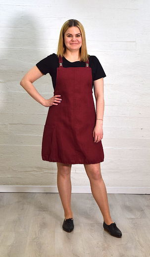 Riiminka Peppi Dress burgundy