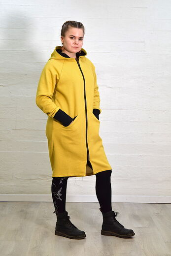 Riiminka Pilvi hood jacket yellow