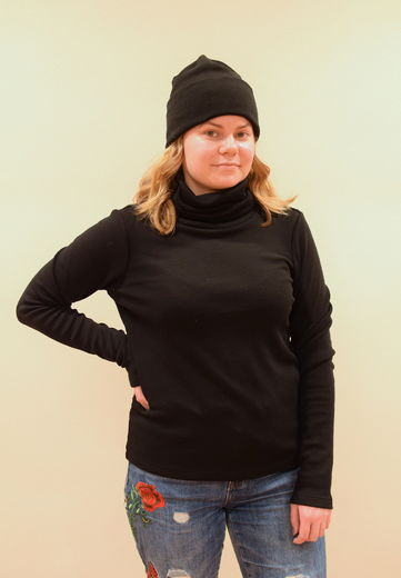Merino Wool  Sweater, black